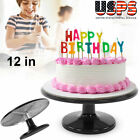 12 Aluminum Revolving Rotating Cake Turntable Fondant Decorating Stand Plate US