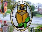Stained Glass Big Eyed Hoot Owl Sun catcher Real Glass