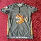 Cannondale Bike Cycling Jersey Shirt Pirahna Graphic Size Large Made In USA