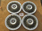 1969 73 BUICK LESABRE DELUXE ELECTRA 225 15 WIRE WHEEL COVERS HUBCAPS SET 4