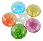 50 pc Round Flower Handmade Lampwork Pendants Mixed Color Jewelry Making 30x40mm