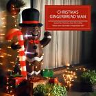 VIVOHOME 5ft Christmas Inflatable Gingerbread Man W Candy Cane LED Yard Decor US