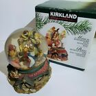 Vintage Christmas Kirkland Signature Musical Waterglobe With Revolving Base