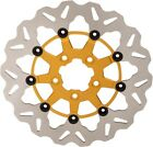 Galfer Wave Full Floating Brake Rotor with Gold Carrier Front DF680CW G