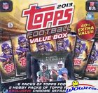 2013 Topps Football MEGA 85 Card Box-2 PLATINUM HOBBY Packs+3 CHROME REFRACTOR