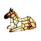 Tiffany Stained Glass Horse Pony Table Lamp Night Lighting Home Decoration Gift