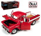 AUTOWORLD AW265 118 1957 CHEVROLET CAMEO CARDINAL RED PICKUP