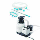 Sand Filter Pump with Timer Bundled w Deluxe Pool Kit Color May Vary 2 Pack