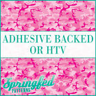 Pink CLASSIC CAMO Pattern Adhesive Vinyl or HTV Heat Transfer Girly Camouflage