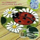 Latch Hook Rug Kits Diy Embroidery Yarn Carpet Mat Gift Making 45x45cm Us Stock