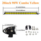 Yellow 7 13 20 25 32 38 Inch Slim Single Row Led Work Light Bar Off Road Suv Atv