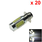 20x White PX15d Headlight Lamp H6M P15D25 1 Light 5 COB LED Bike Moped Z20207