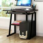 Computer Desk Small Space Saver Desk Laptop Pc Table Home Wkeyboard Tray Bk