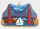 San Francisco Golden Gate Bridge Polish Glass Christmas Ornament California USA