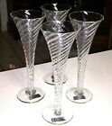 Set of 4 TOSCANY PERIGNON 825 Champagne Glasses Wedding Swirl Toasting Flutes