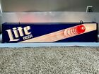 RARE BIG 48 VINTAGE MILLER LITE BEER POOL TABLE LIGHT 3 BALL MAN CAVE BAR 1980s