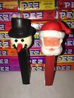 pez no feet Santa And A Snowman In Great Condition