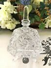 Vintage Hand Cut Lead Crystal Footed Covered Candy Dish 7 Beautiful