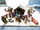 BEAUTIFULLY DETAILED 20pc Vintage Holland Mold Nativity Set Hand Painted Ceramic