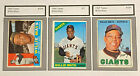 Willie Mays Topps 1960 #200, 1966 #1, 1967 #200