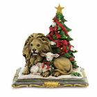 Christmas LION  LAMB WITH TREE Polyresin Josephs Studio 31232