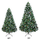 5 6 7FT Christmas Tree Artificial Holiday Faux Pine Xmas PVC Trees Home W Stand