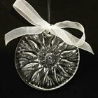 WATERFORD CRYSTAL SUNCATCHER ORNAMENT WITH WHITE BOW