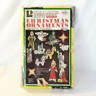 Vintage Arrow Paint by Number 12 Christmas Wood Ornament Kit Nativity 1972