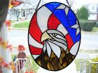 Stained Glass American Bald Eagle Sun catcher Real Glass