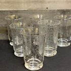 Hand Blown Seeded Clear Glassware Tumblers Set of 6