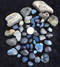 50 Small Leland Blue Stones Slag Glass Total Weight 141 oz