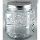 Grant Howard 51091 102 Ounce Classic Embossed Glass Mason Storage Jar with Lid