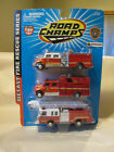 Road Champs Fire Rescue Series 3 Pack Louisville Kentucky Fire Dept Engine Truck