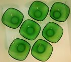 7 x Vintage Retro 1960 1970 Pyrex Glass Vereco France Bowls Green