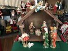Vintage 12 Piece Large Nativity Set Mad in Japan Tallest Piece 9
