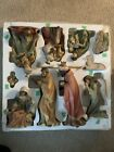 11 Piece Hand Painted 13 Christmas Nativity Set VINTAGE