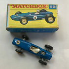Matchbox LESNEY 52 BRM Racing Car Blue in F Type box Original 1960s