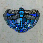 Tiffany Style Wall Light Handcrafted Stained Glass Uplighter Lamp Night Lamps UK