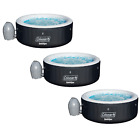 Coleman SaluSpa Portable 4 Person Outdoor Inflatable Hot Tub w Pump 3 Pack