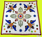 Incredible Hand Applique Eagle Medallion quilt top Perfect Design All Hand Work