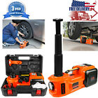 Electric Hydraulic Floor Jack Kit Car Jack Lift Set 5 Ton DC12V Safety Hammer US