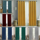 Velvet Window Curtains Soft Luxury Thermal Insulated Door Curtain Grommet 2Panel