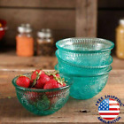 The Pioneer Woman Adeline 4 Piece 13 Ounce Embossed Glass Fruit Bowl Set Teal