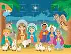 Christmas Advent Calendars Childrens Nativity with Pull Tab Flaps Pack of 12