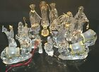 Gorham Crystal Nativity Set Holy Family Ox Ass Kings Camels Ram Drummer Angels