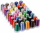 40 Color Polyester Embroidery Machine Thread  550 Yards Each Spools