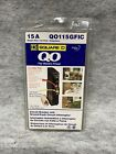 Square D 15A Circuit Breaker and Ground Fault Circuit Interrupter QO115GFIC