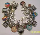 The Beatles Inspired Charm Bracelet Hand Crafted Glass Dome