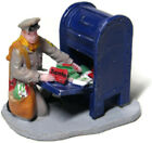 Lemax Christmas Village Scene Mailman Emptying Mailbox Christmas Cards Mail Bag