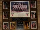 1997-1998 Bulls Team Photo with Starting Lineup Basketball cards from 1997-1998